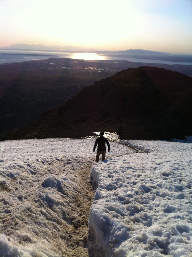 Hiking Down Flat Top