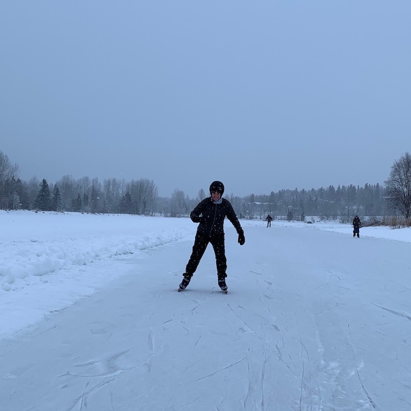 skating on the lagoon