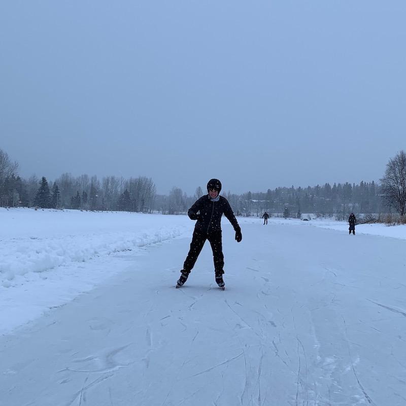 skating on the lagoon