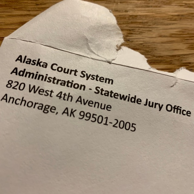 Jury summons envelope