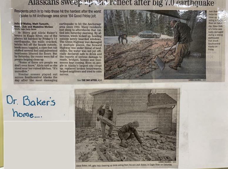 ADN earthquake article about doctor Steve Baker