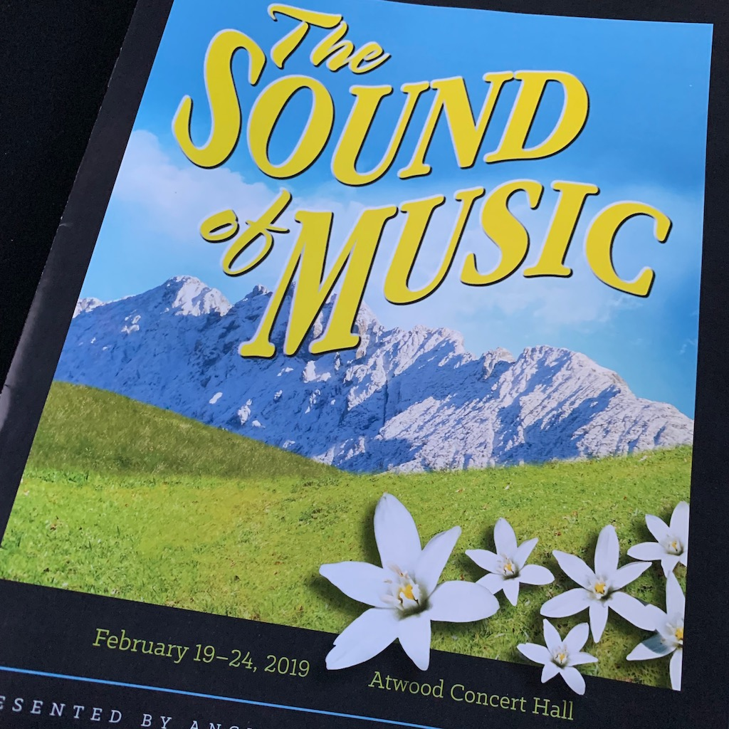 The Sound of Music theatre program