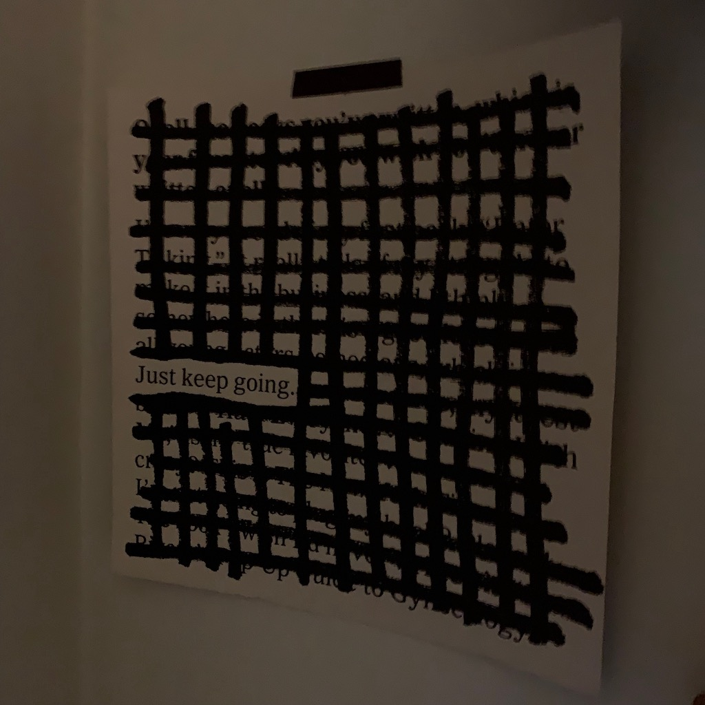 Just Keep Going - Austin Kleon Calendar Page